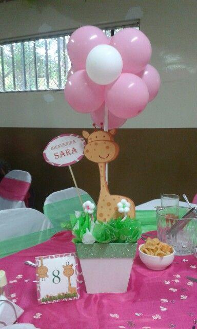 Centro de mesa Jirafa jirafa Pinterest - centros de mesa para baby shower