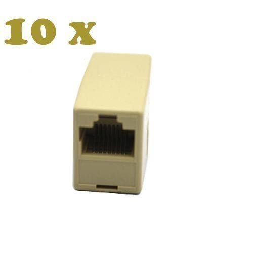 10 X Cat5 Rj45 Network Cable Extender Plug Coupler Joiner Splitter Connector Adapter By Aftermarket 3 62 1 Rj4 Network Cable Networking Computer Accessories