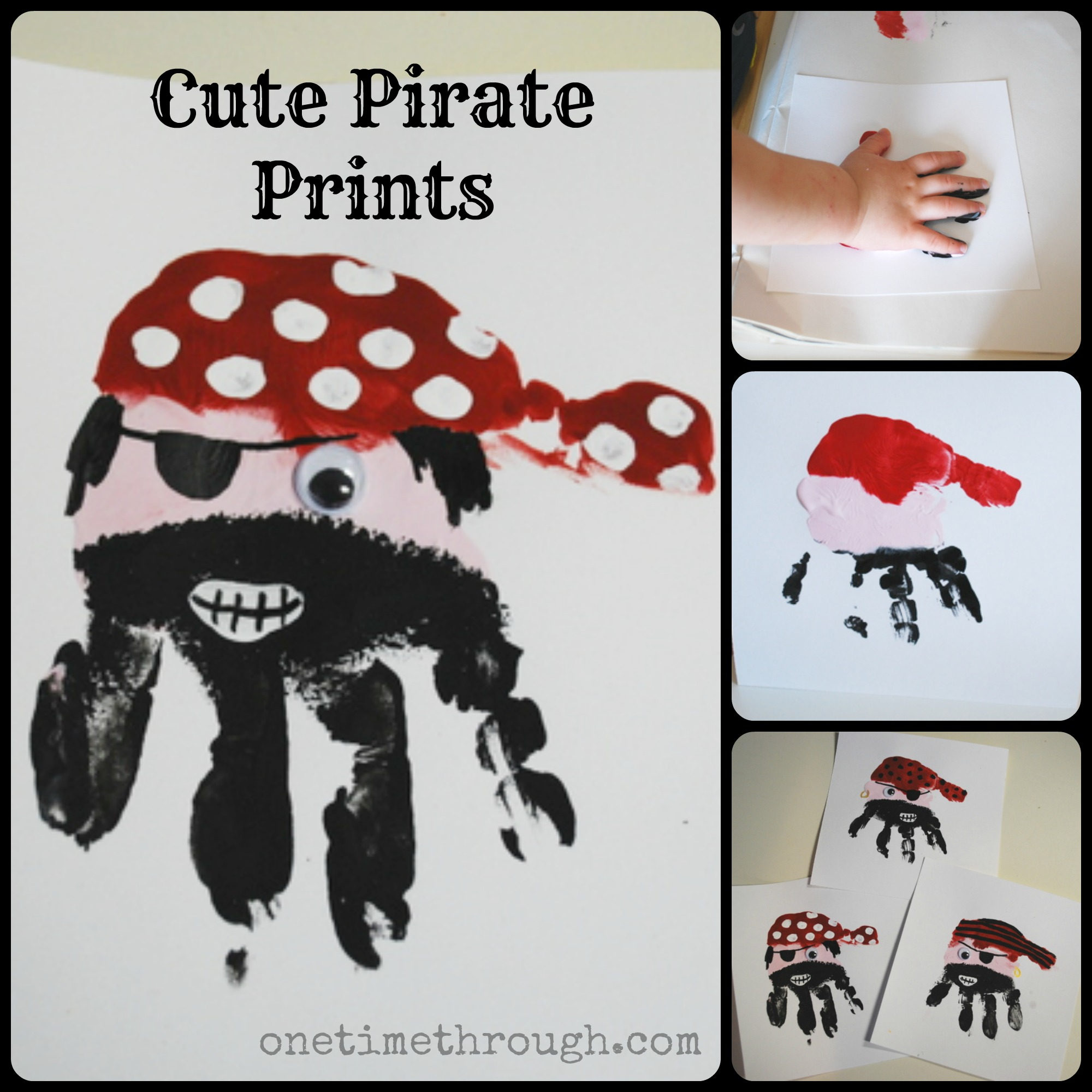 Pirate handprints by onetimethrough.com | Pirates Activities for ...