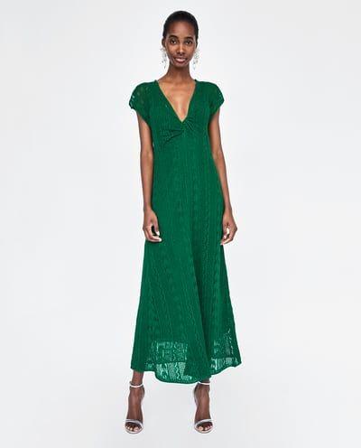 Vestido verde zara 2018