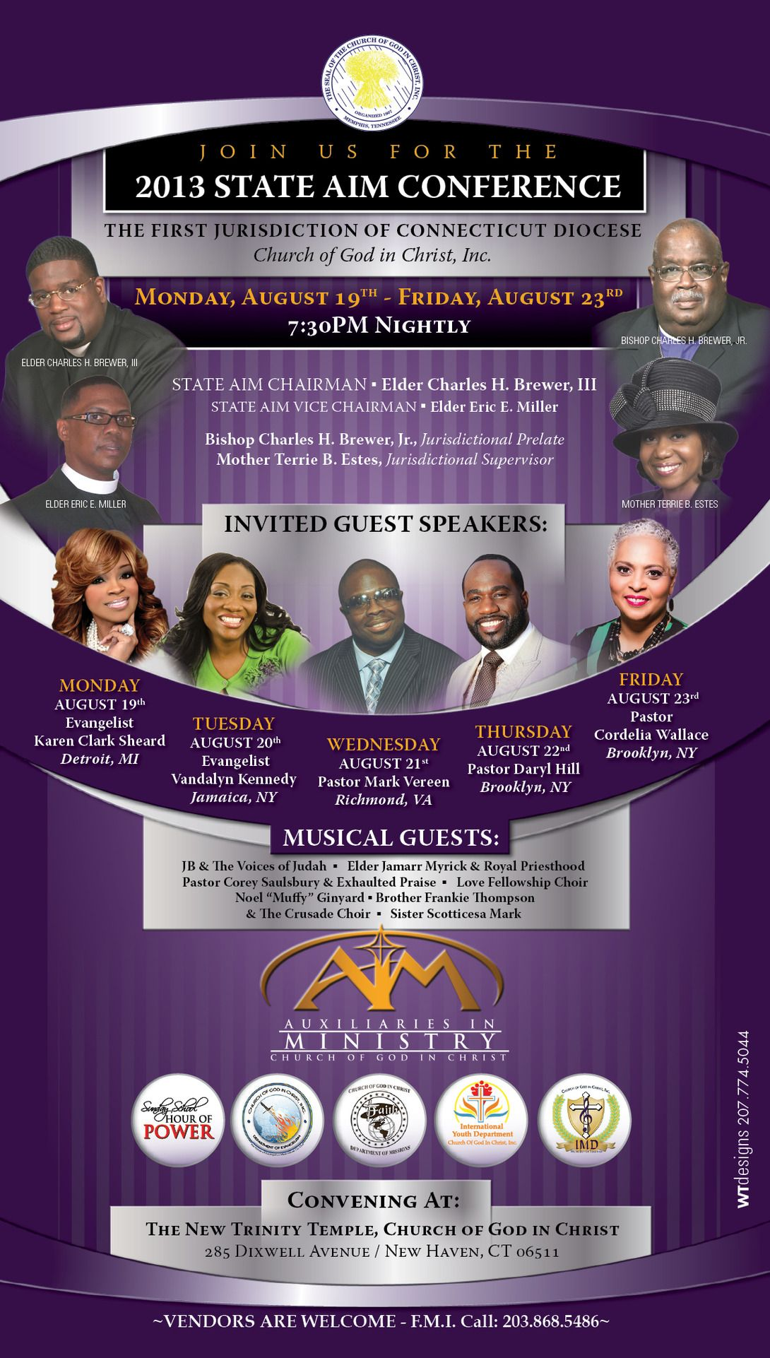 The First Jurisdiction of Connecticut COGIC State AIM Conference on