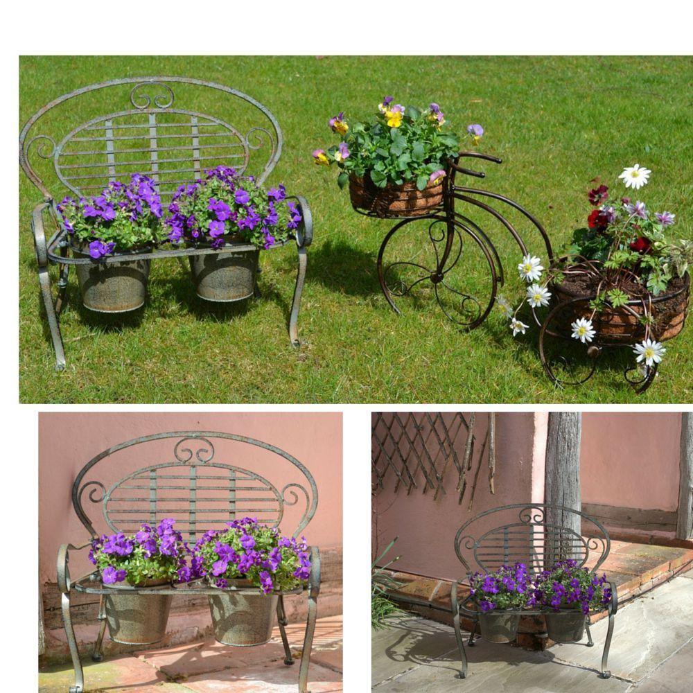 Metal Plant Stand Large Flower Pots Garden Planter Outdoor