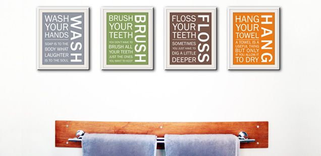 Bathroom Wall Framed Pictures