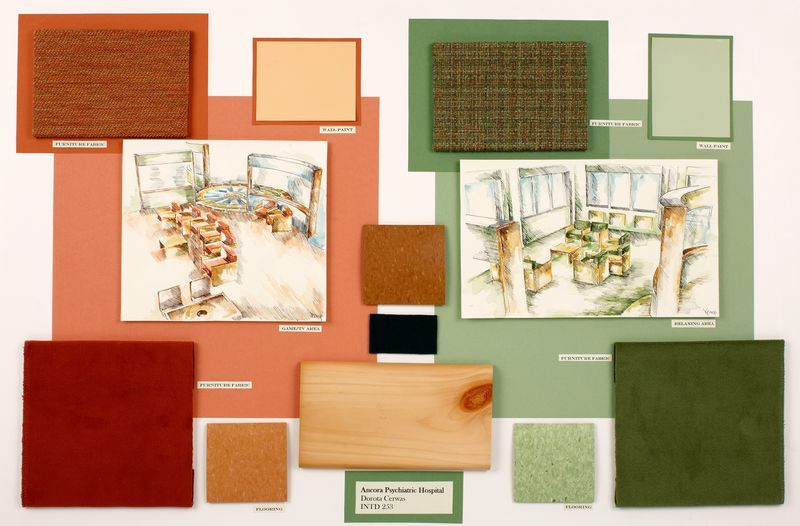 Color material board design school 101 pinterest - Materials of interior design ...