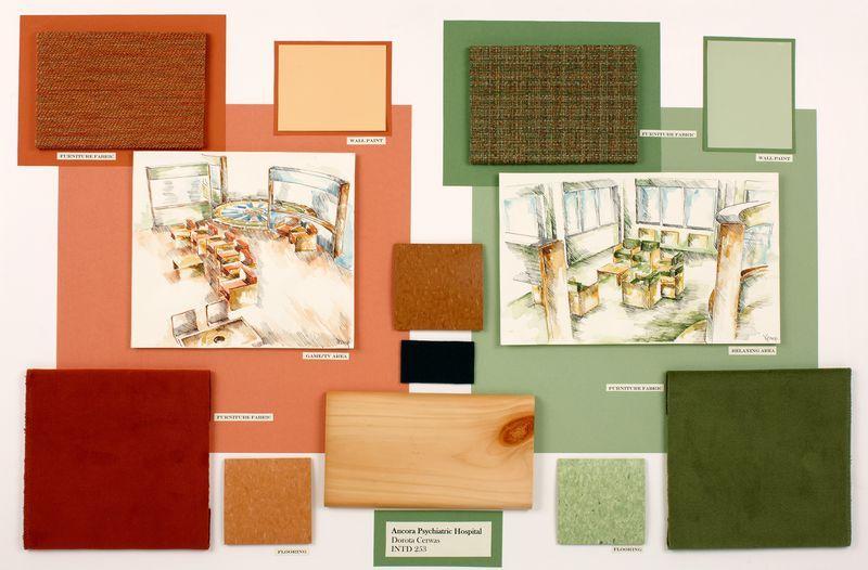 Interior design material boards interior design project - Materials needed for interior design ...