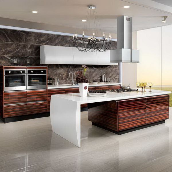 Superieur OP13 285: Modern Lacquer And High Glossy Wood Veneer Kitchen Cabinet