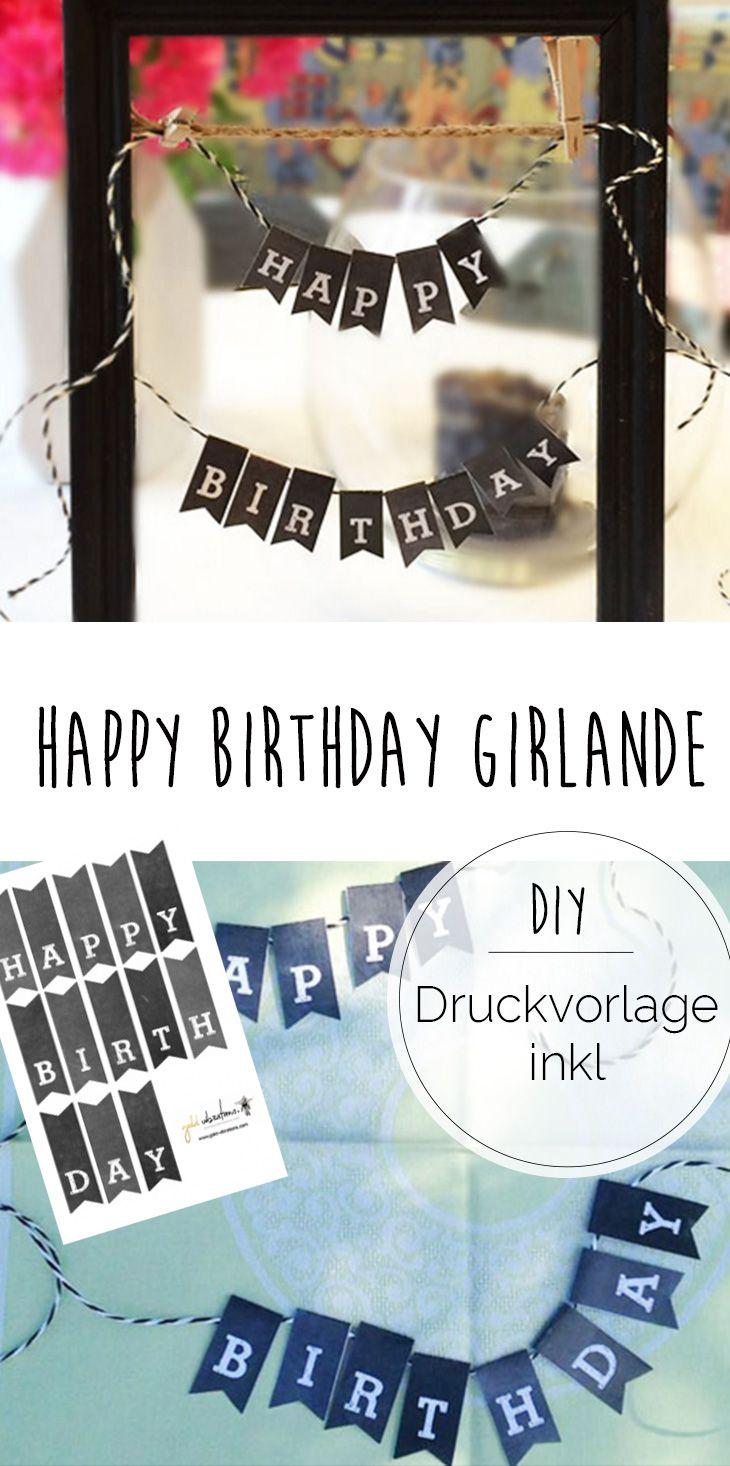 Hayppy Birthday mini Girlande  se Deko fr