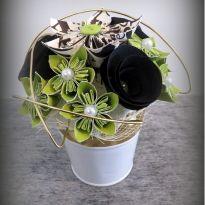 composition florale centre de table fleuriste fleur papier kusumada kusudama origami 31emotions. Black Bedroom Furniture Sets. Home Design Ideas