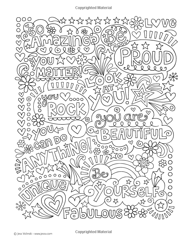 Notebook Doodles Go Girl Coloring Amp Activity Book Jess Volinski 9781497200159 Amazon Com Book Quote Coloring Pages Cool Coloring Pages Coloring Pages