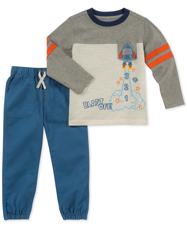 Boys Long Sleeve Clothing Set Baby T-Shirt+Pants Outfits Pajamas Set