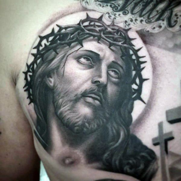 100 jesus tattoos for men cool savior ink design ideas rosary tattoos pinterest tattoos. Black Bedroom Furniture Sets. Home Design Ideas