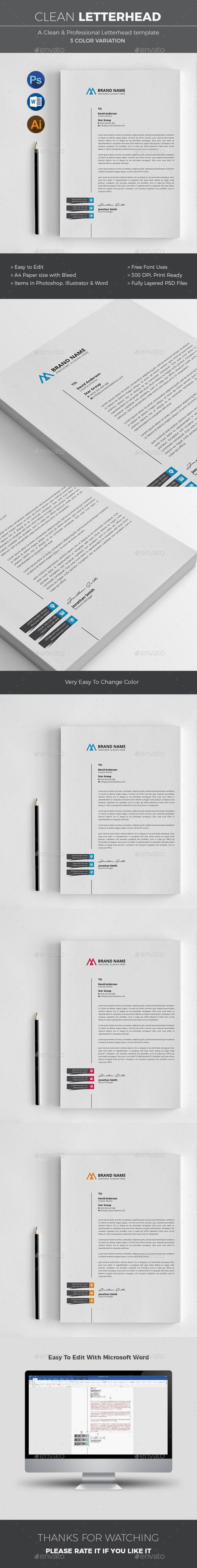 Letterhead Letterhead Stationery printing Print templates
