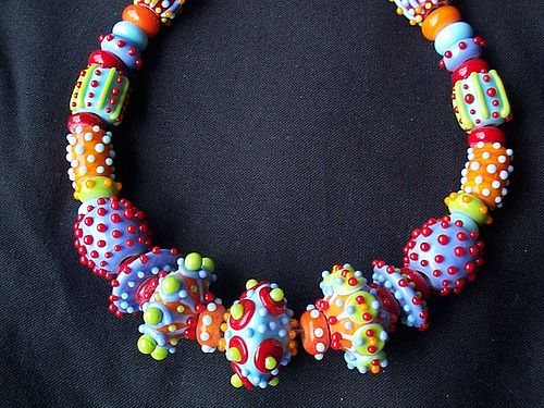 one of my lampwork bead necklaces