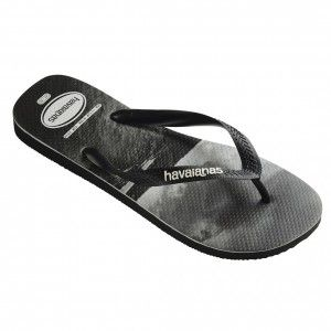 57a14ea877b Havaianas Top Photoprint Flip Flops - Black   White