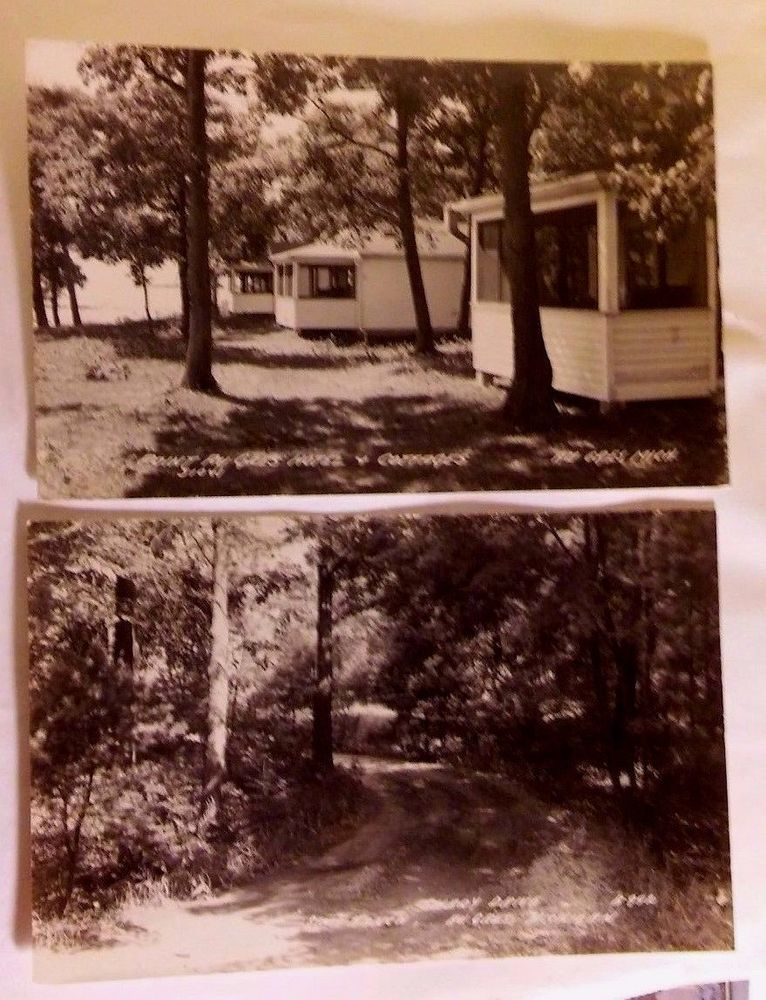 RPPC 2 REAL PHOTO POSTCARDS SCENES OF AU GRES MICH SHADY