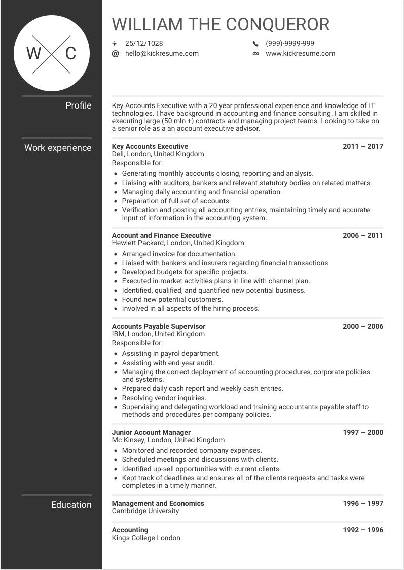 Account Executive Sample Resume Account Manager Sample Resume Account Executive Resume Examples Key Ac Manager Resume Accounting Manager Job Resume Template