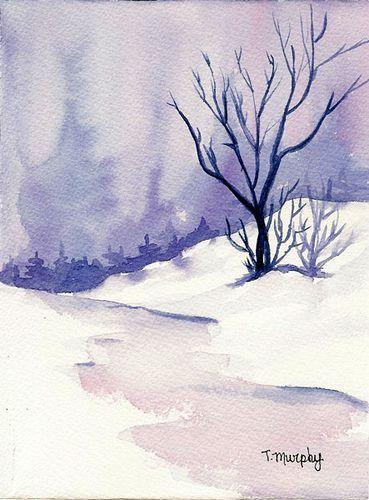 59 Trendy Winter Landscape Watercolor Water Colors Aquarelle