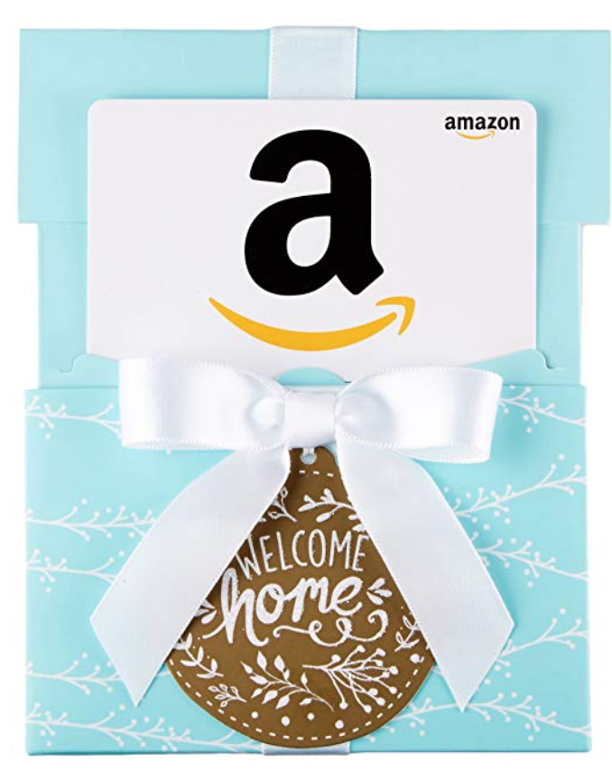 Photo of Amazon.com Gift Card in a Welcome Home Reveal