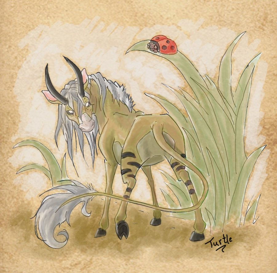 Abada- African myth: a tiny equine that had two horns  The horns
