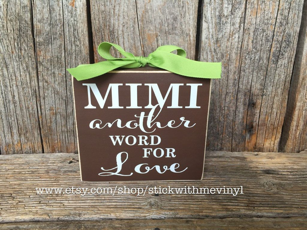 mimi another word for love grandmother gift mothers day grandma wood block set sign personalized christmas