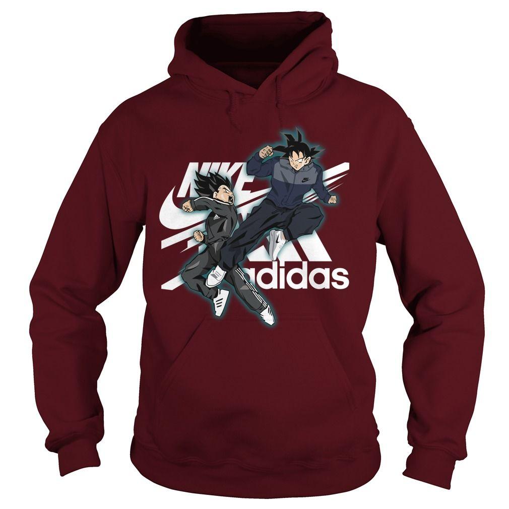 Vegeta nike and goku adidas shirt, hoodie, tank top | Dragon