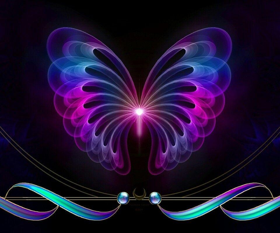 Neon Butterfly Desktop Background: Dibujos Kawaii, Fibromialgia