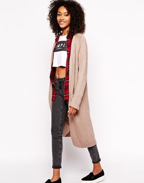 Monki Longline Pocket Cardigan | Fall/vinter fashion | Pinterest ...
