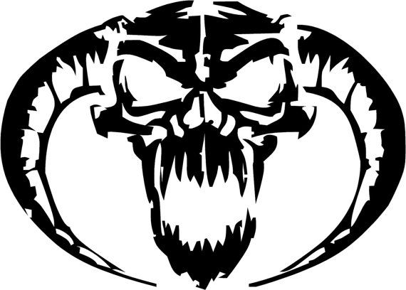 skull evil demon tribal decal vinyl window sticker 2