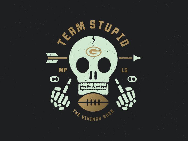 Go Team Stupid Football Logo Design Fantasy Football Logos