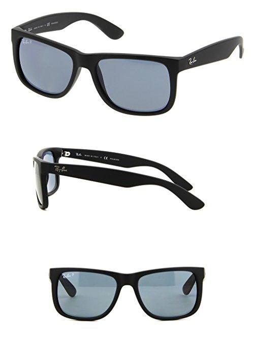 0b90c2a083f Ray Ban RB4165 622 2V 55 Black Rubber Dark Blue Polarized Justin Bundle-