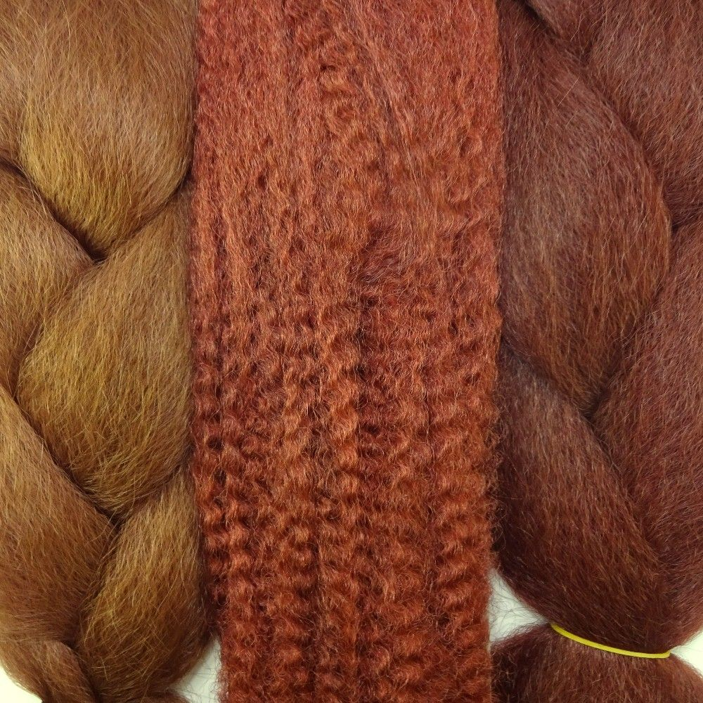 Color Comparison From Left To Right 130 Red Auburn Kk Jumbo Braid