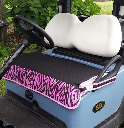 Golf Chic Black Quilted Pink Zebra Trim [GC-blackquiltedpinkzebracover] - $59.95 : Golf Essentials For Women, Offering quality contemporary ladies, children and mens golfwear and accessories