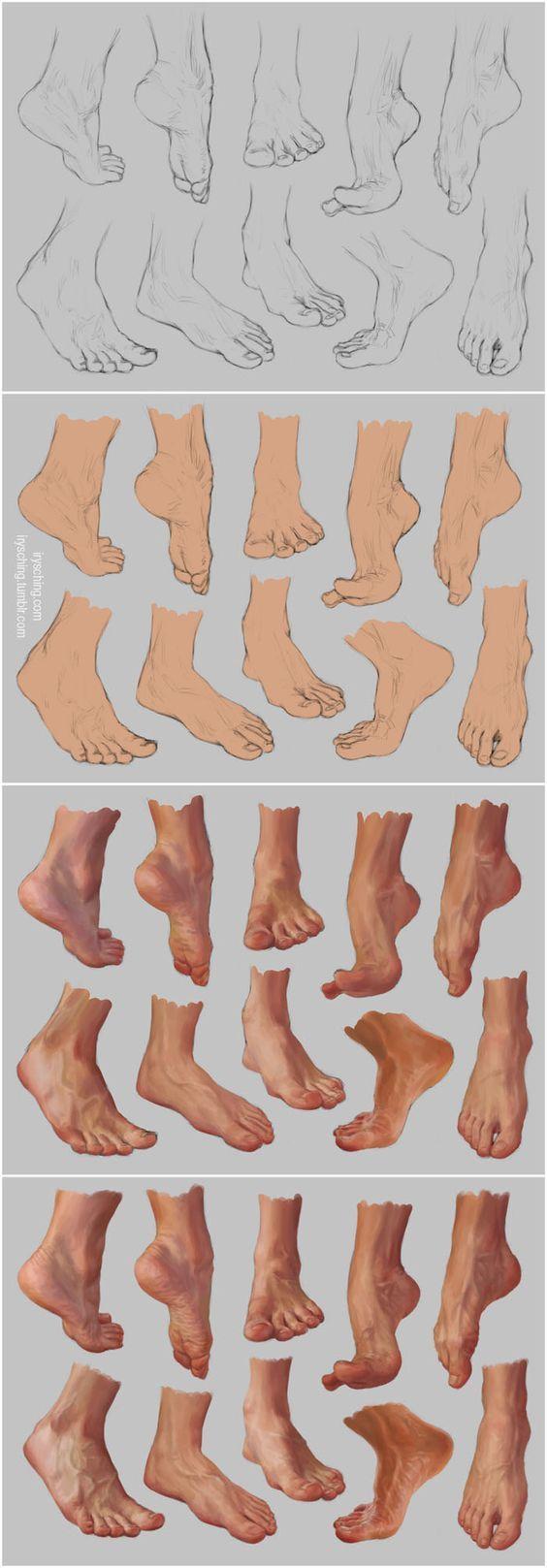 Drawing tutorials - Feet | Digital Painting Tutorials | Pinterest ...