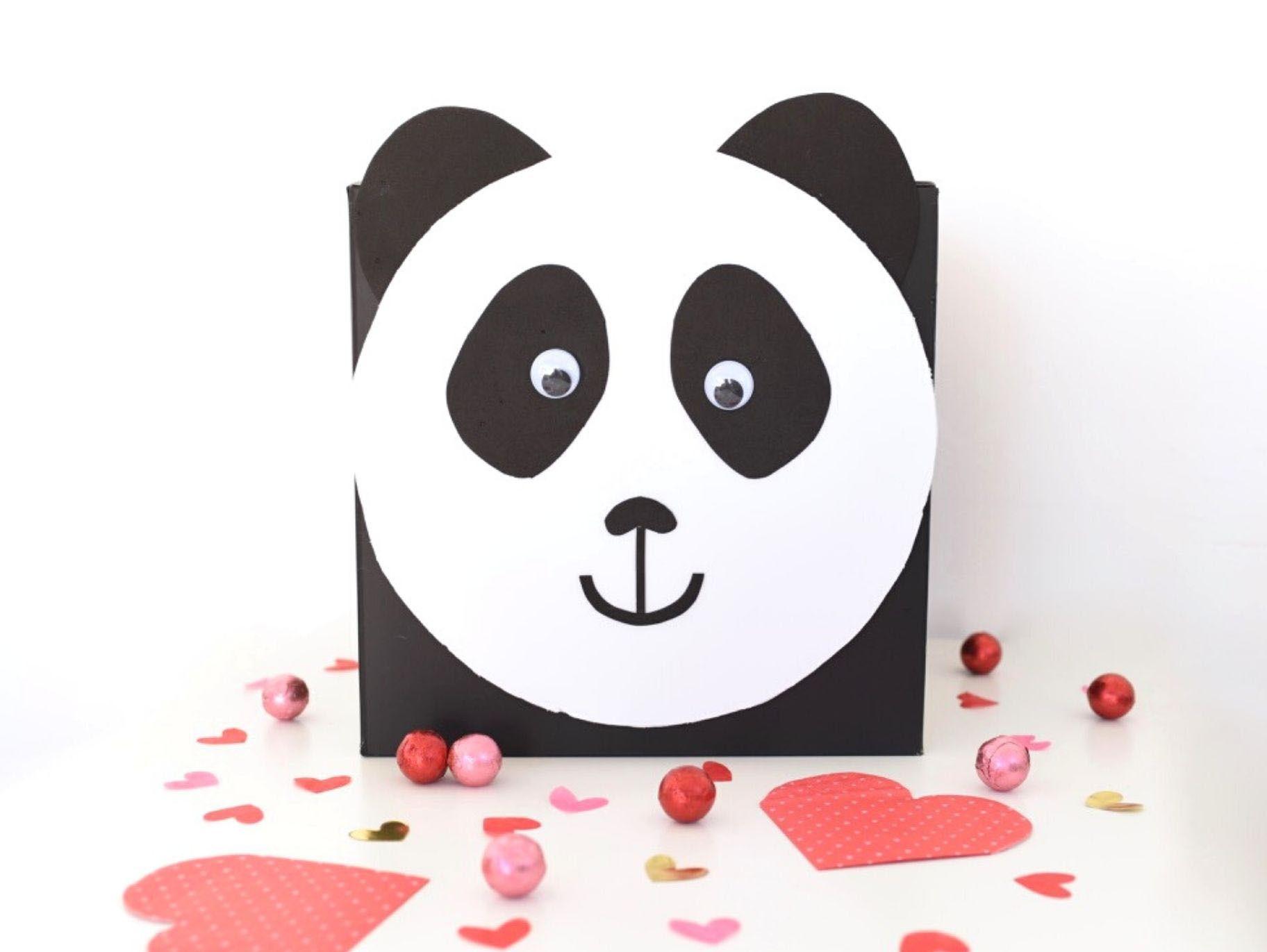 Diy Panda Valentine Card Box Valentine Card Box Valentines Cards Valentine Day Cards