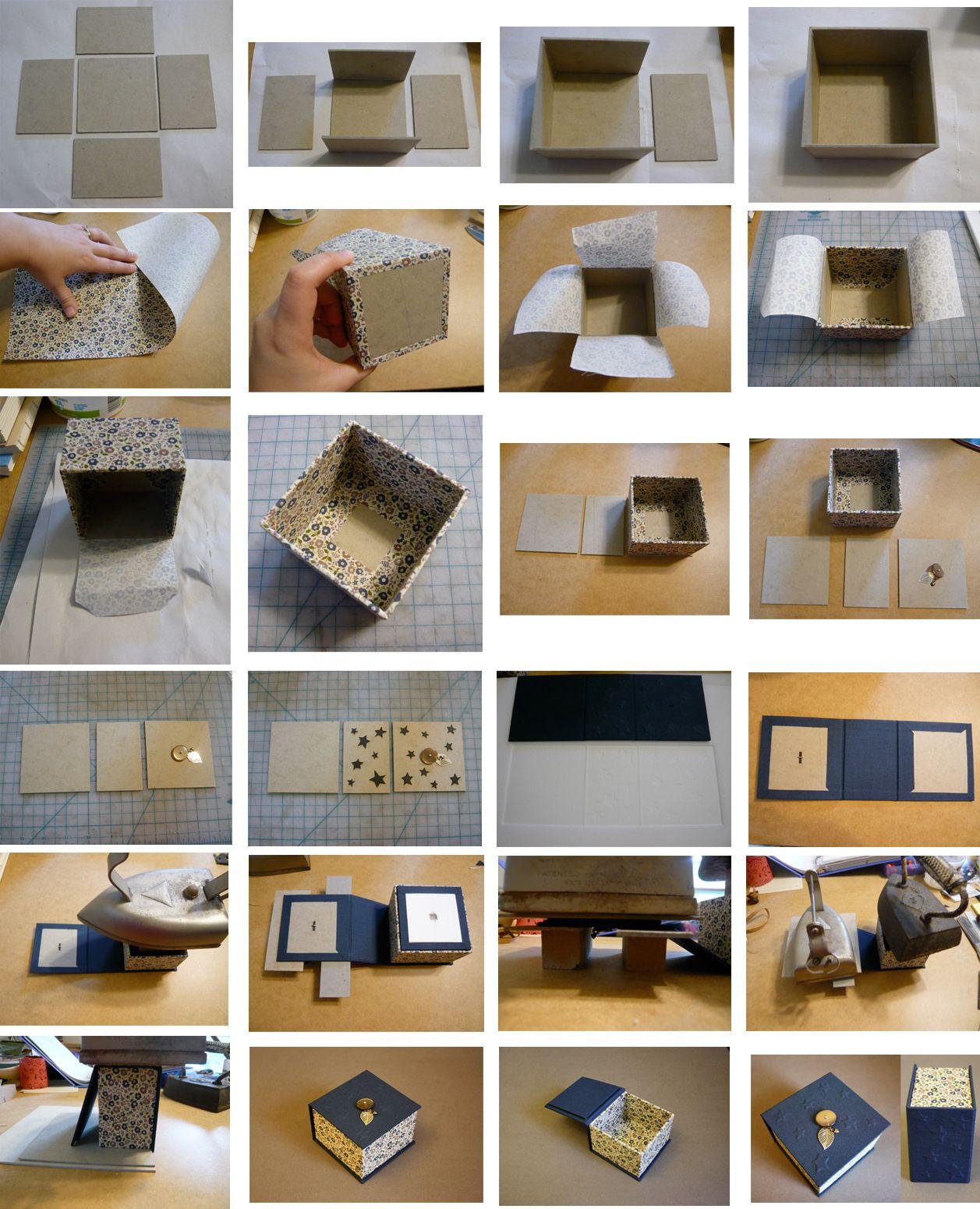 Boite Rangement Papier Wc diy trinket box   tutoriels cartonnage, boîte en tissu et