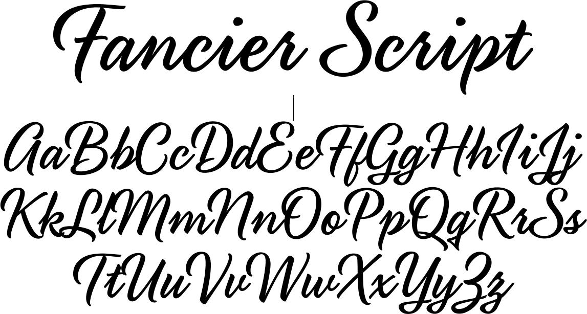 Fancier Script Font By Blue Vinyl Font Bros Fancy Script Script Lettering