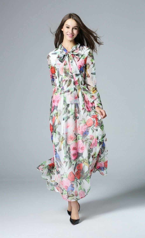 f36ea05733 Beautiful Dresses · Printing · Wholesale cheap online, empire - Find best women  long sleeve chiffon maxi dress summer long