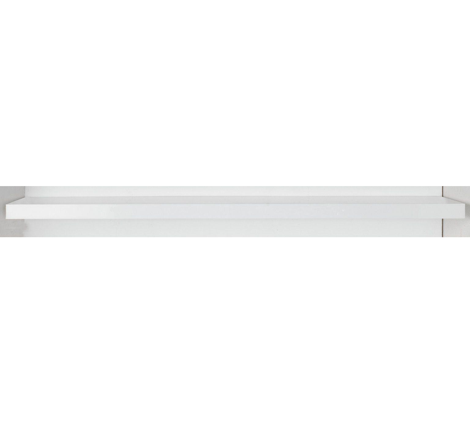 Swell Buy Argos Home Glenmore 120Cm Floating Shelf White Gloss Best Image Libraries Barepthycampuscom