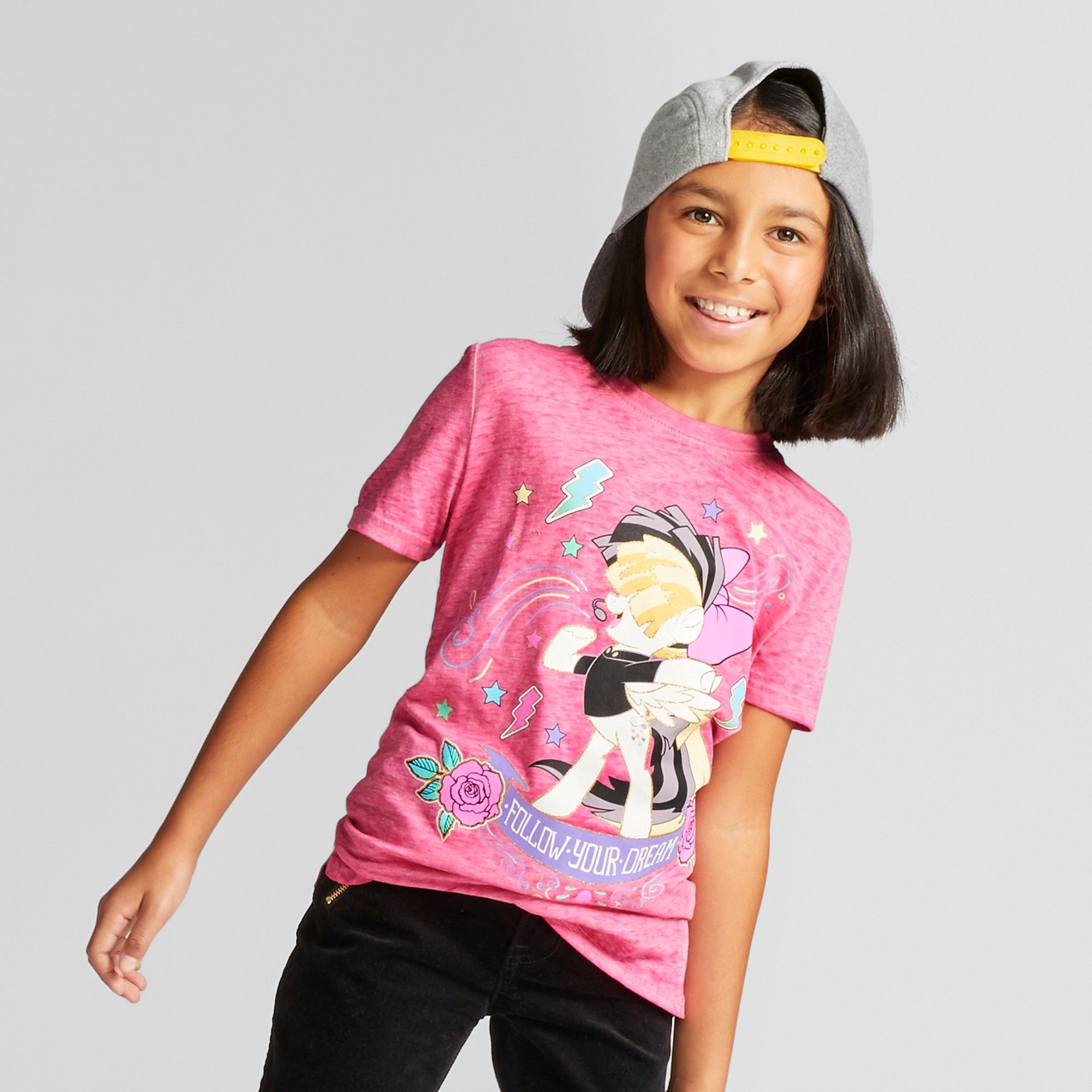 4b5364d1 Plus Size Girls' My Little Pony 'Follow Your Dream' Short Sleeve Graphic  T-shirt - Pink L Plus