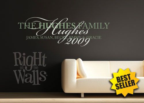 Fancy Family Wall Decals Custom Family Wall Decor Family Vinyl
