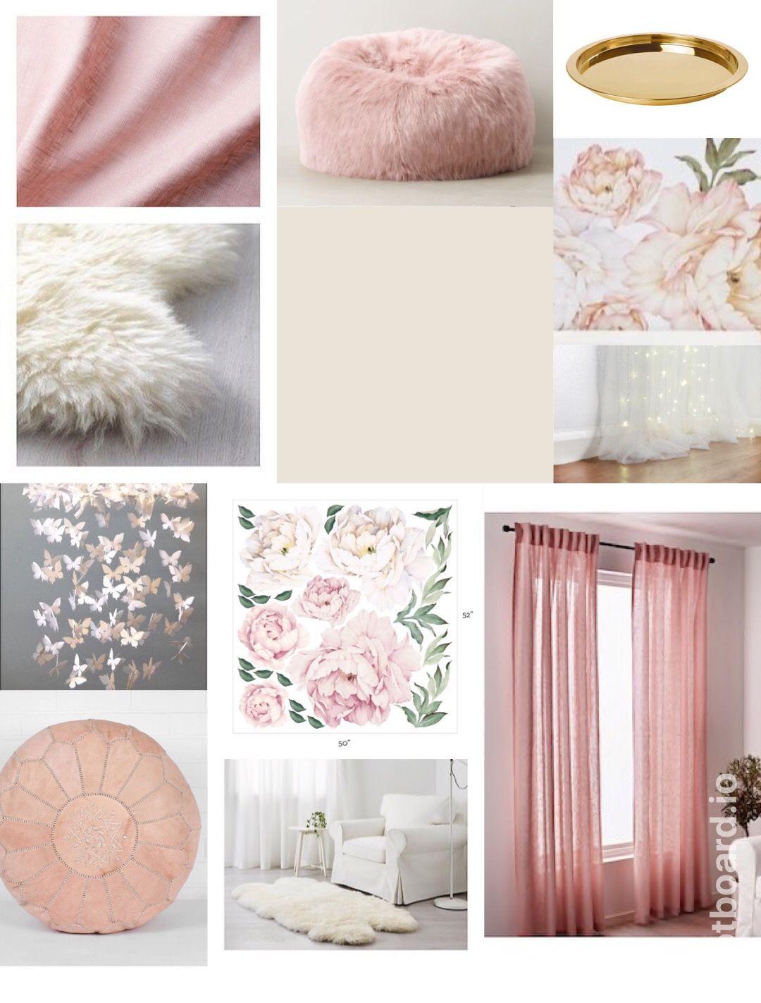 White Rose Gold And Blush Pink Nursery Mood Board Gold Baby Room Blush Pink Nursery Rose Gold Room Decor
