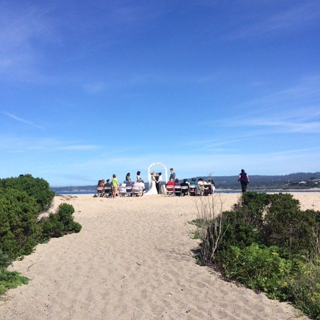 Another Beautiful Daytime Beach Wedding. ☀️#wwcarmel