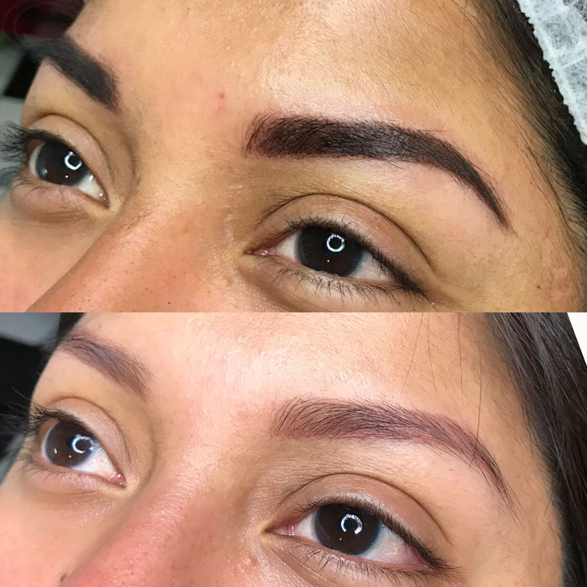 When brows fade to red or blue, they need to be 'corrected