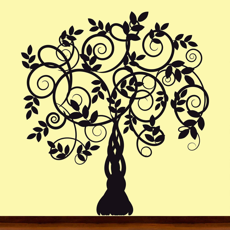 Black Silhouette Vine Tree Decal Sticker Picture by OriginalWalls ...