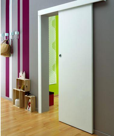 la porte coulissante l 39 astuce gain de place efficace porte coulissante pinterest portes. Black Bedroom Furniture Sets. Home Design Ideas