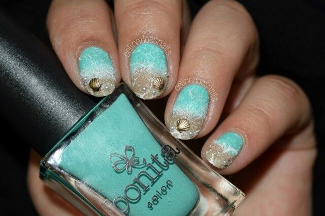 By The Seaside #nails #nailart