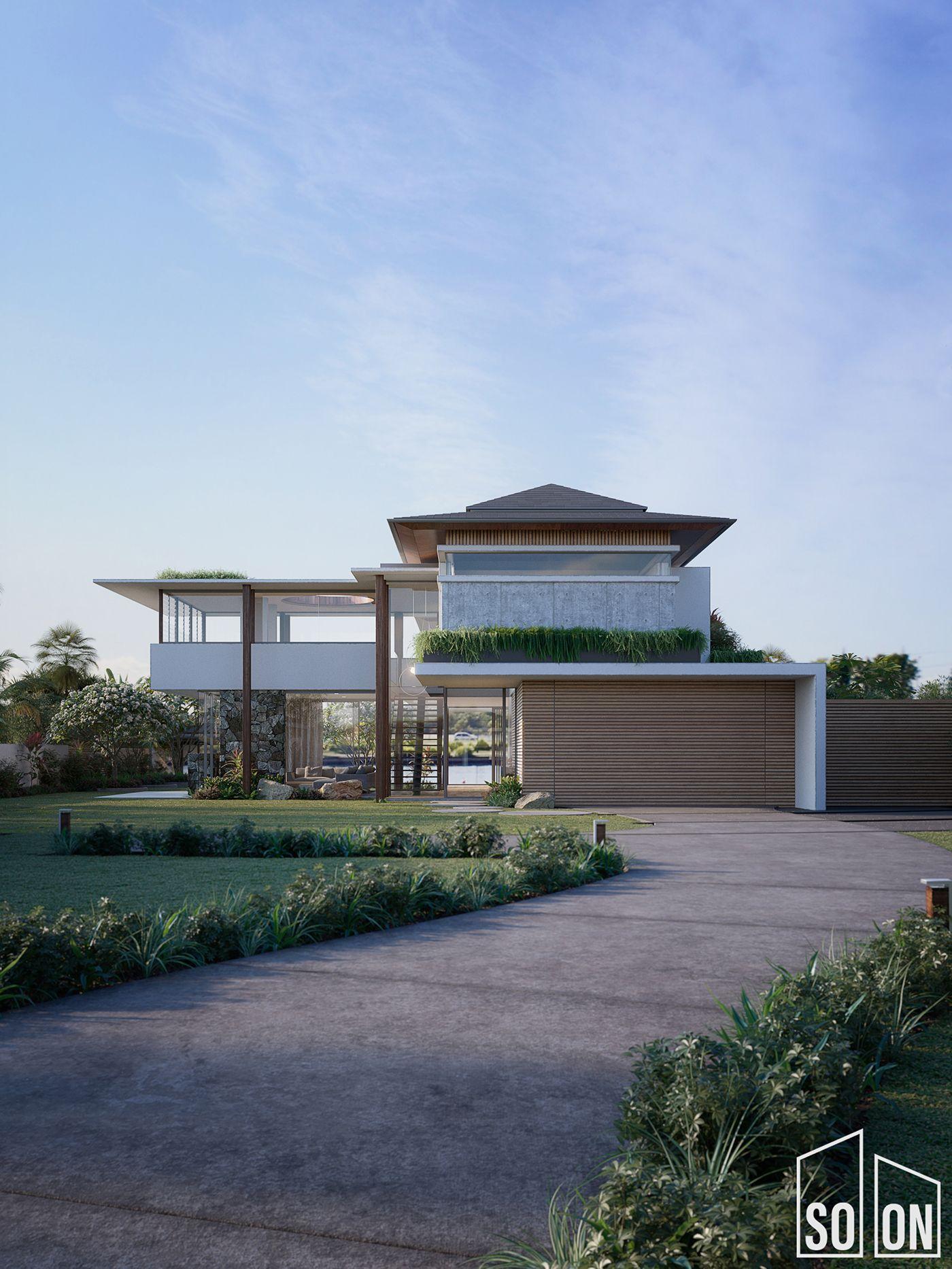Kawana Waters Residence On Behance Residences House Exterior