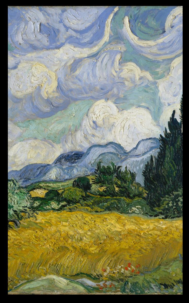 DETAIL: Wheat Field with Cypresses Vincent van Gogh  (Dutch, Zundert 1853–1890 Auvers-sur-Oise)