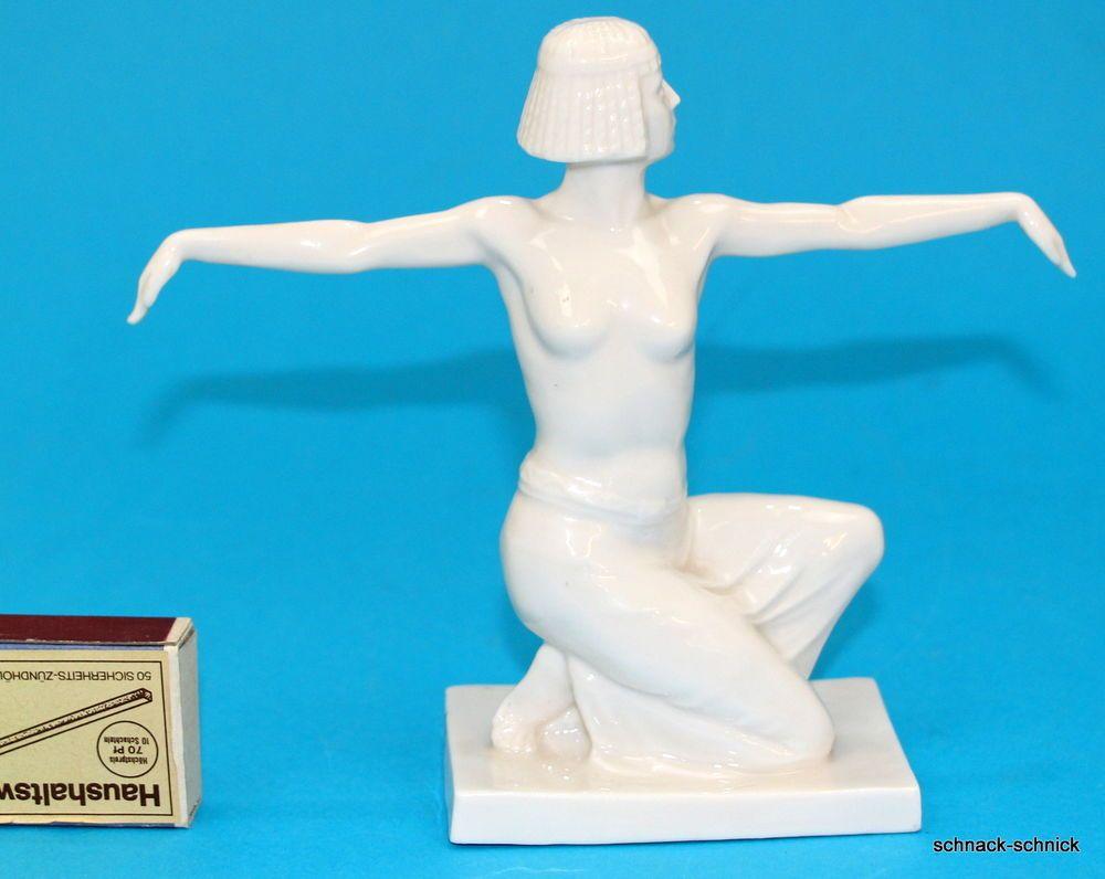 Dressel Passau selten Art Deco Porzellan Figur Ägypten Tänzerin Karl ...