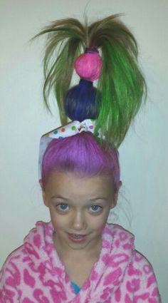 crazy hair day at school kindergarten hair style girl